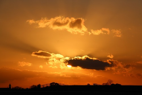 Sunset over York Station