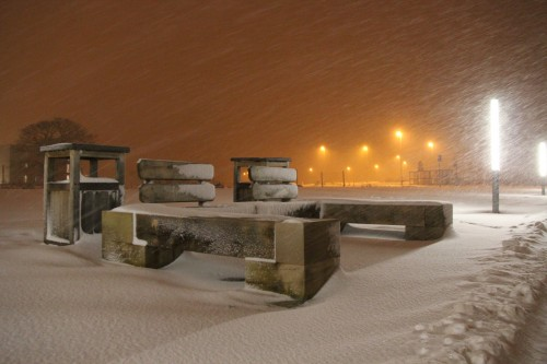 A Snowy Bench in York