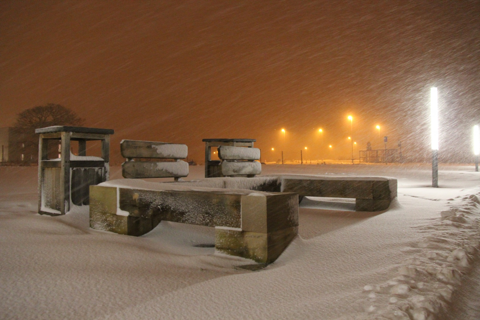 A Snowy Bench in York