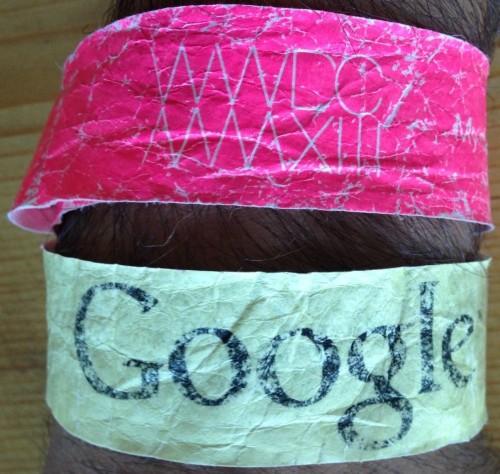 Google + WWDC Wristbands