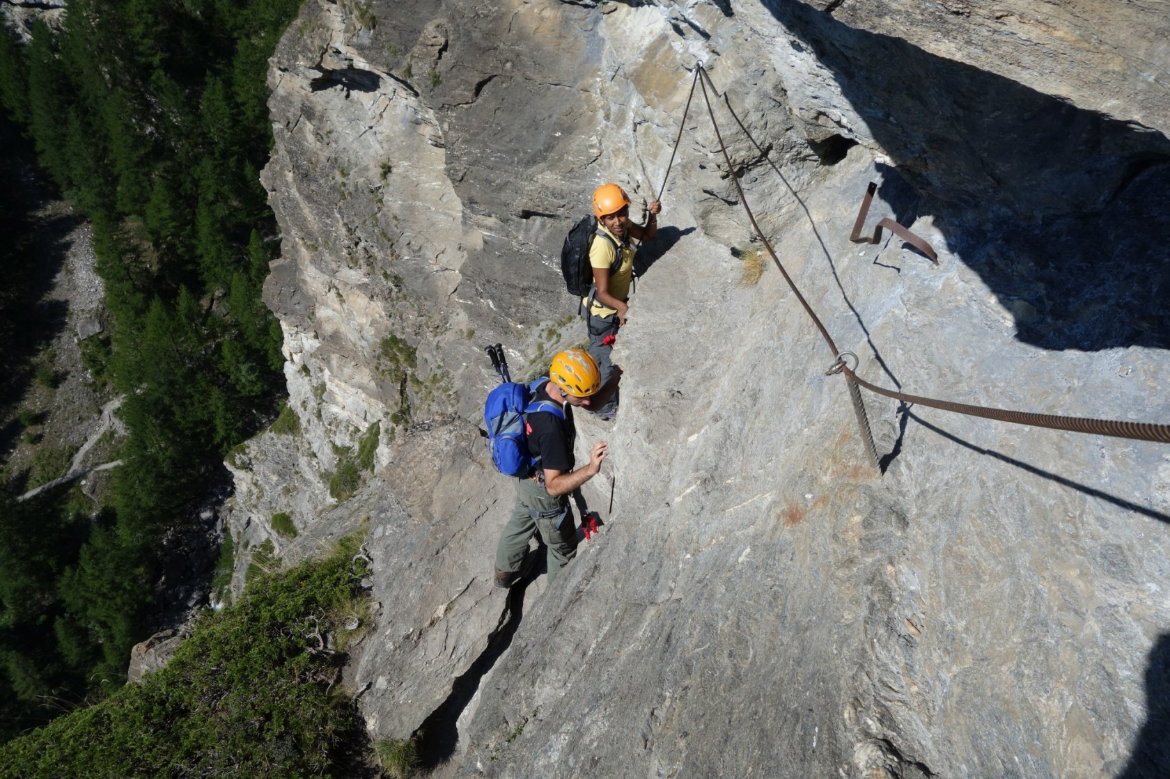 Doing the Via Ferrata in Zermatt