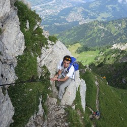 Final stage of hiking up Rappenstein