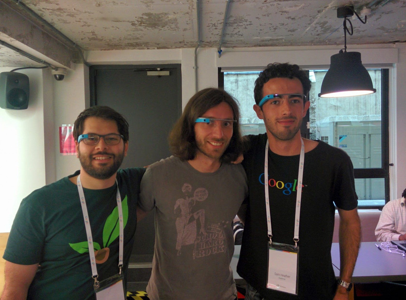 Alessio, Antonio and I - the three creators of 'Ok Glass, Where is the Space Station'