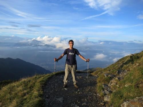 Lugano Hike - the final push to Tamaro Hut