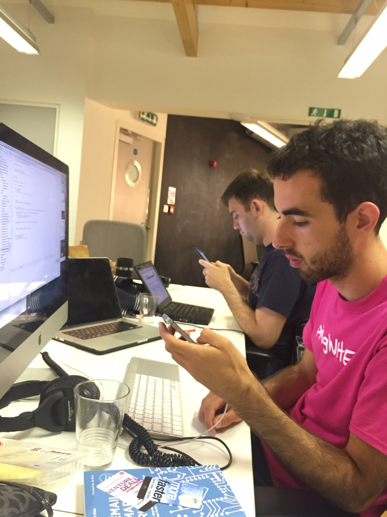 Sam working with Eduard (Hackstar) on the new website