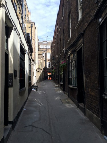 On the scavenger hunt, we passed the inspiration for Diagon Alley