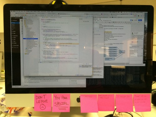 iMac's are perfectly designed to hold 8 pink stickies - a spec not mentioned by Apple
