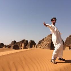 Me at Meroë Pyramids