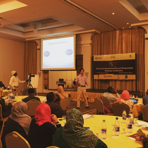 Me Speaking at the Khartoum Responsible Business Conference