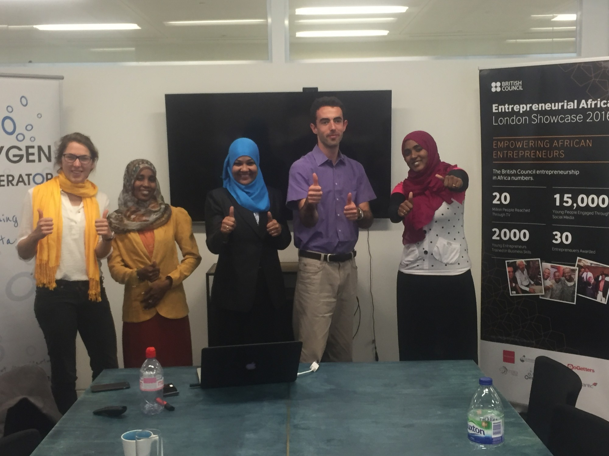 Mashrouy Winners: Houida, Abrar and Maha, after my workshop on tracking business progress and utilising mentors