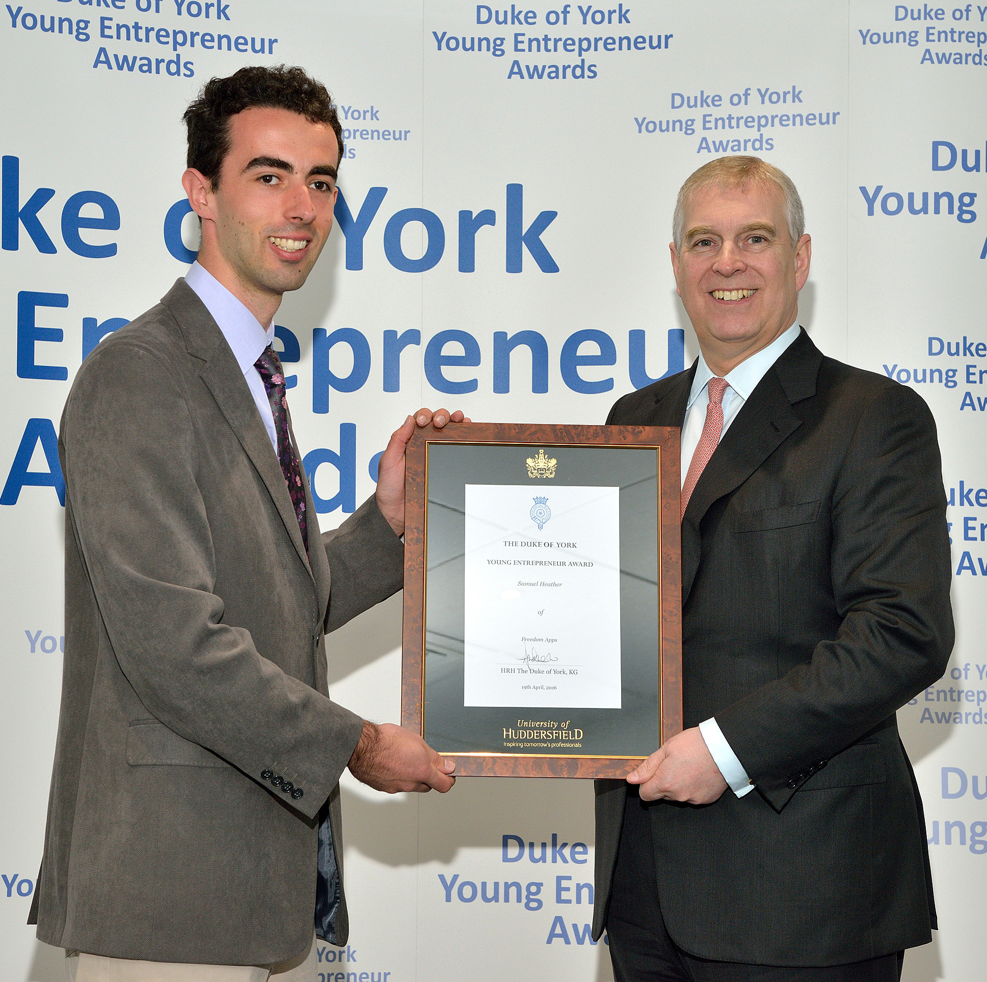 Receiving my award from the Duke of York